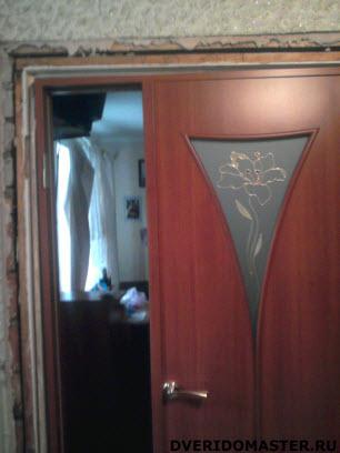 переделка дверей установка