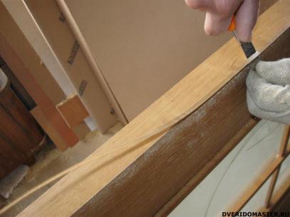 переделка дверей  обрезка кромки