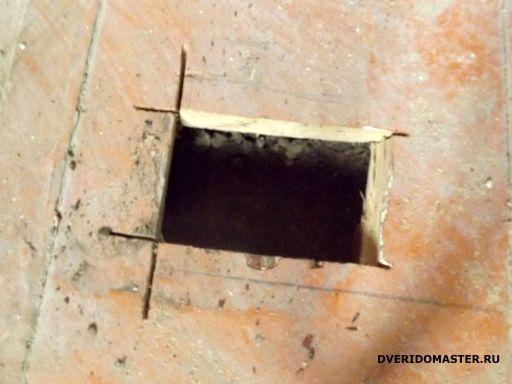 ремонт за 10 дней отверстия в полу