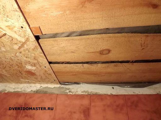 работы в доме потолок в ванне