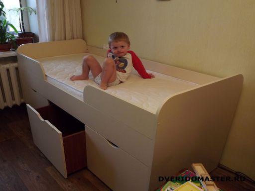 кровать с выдвижными ящиками сборка