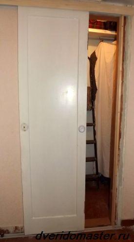 двери на роликах установленные