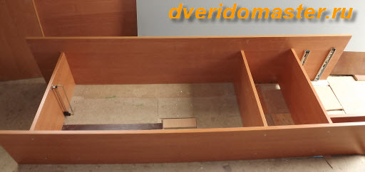 сборка шкафа-купе последовательность
