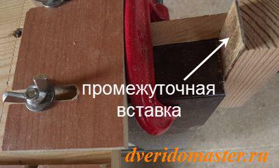 шаблона для врезки петель