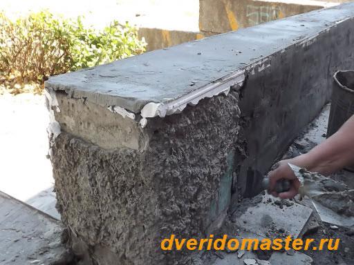 Как сделать цементную шубу 76
